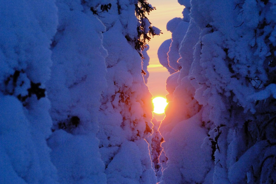 Finnish Lapland at Winter Time