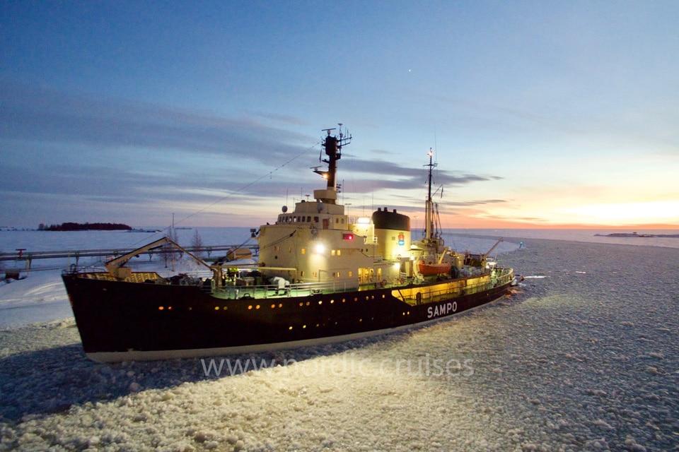 Icebreaker Sampo in the Gulf of Bothnia
