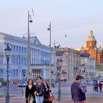 Travelers in Helsinki, Finland