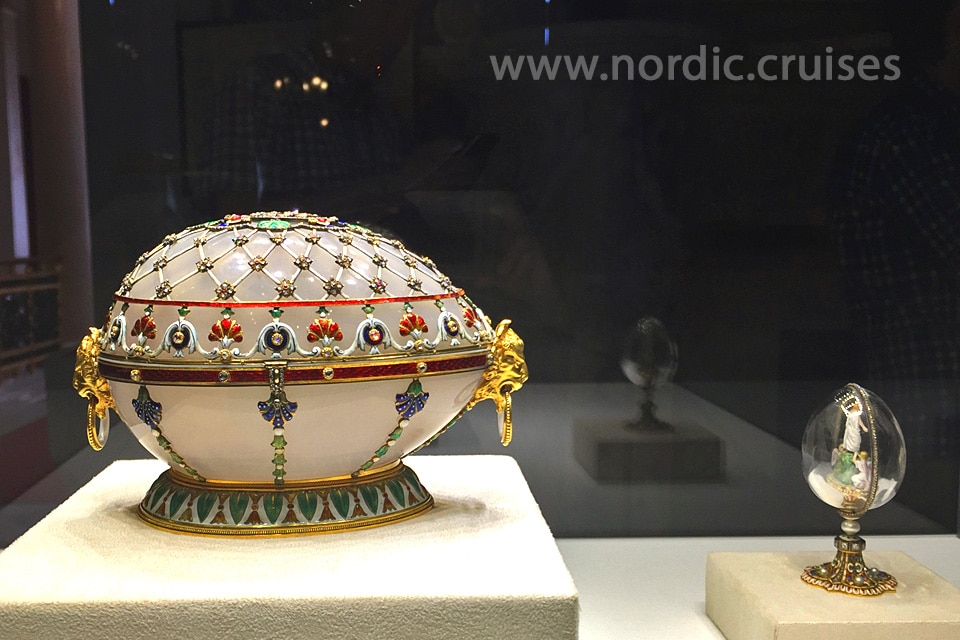 Renaissance Egg in the Faberge Museum, St. Petersburg